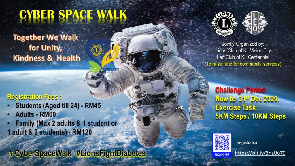 Cyber Space Walk – Together We Walk for Unity, Kindness & Health. Let's Fight Diabetes Together.