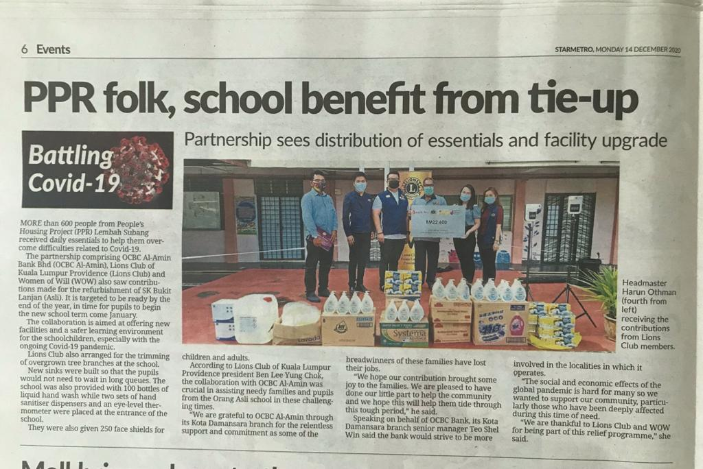 Star 14/12/2020. Well done LC KL Providence & thanks to OCBC 👍