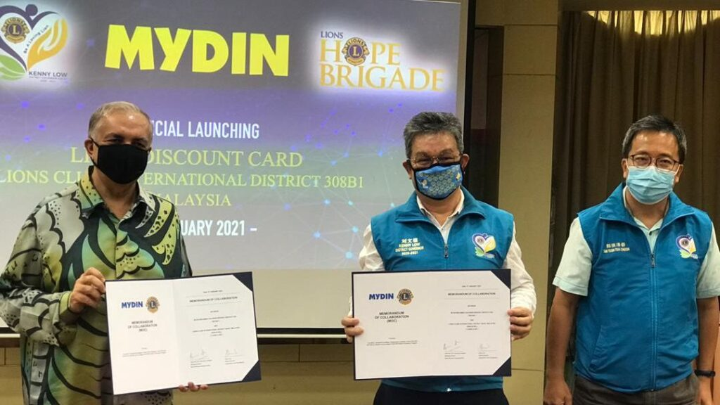 LIONS DISCOUNT CARD MOC SIGNING CEREMONY BETWEEN THE LIONS CLUBS INTERNATIONAL DISTRICT 308B1 AND MYDIN