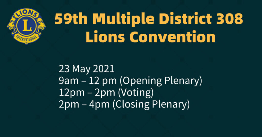 59th Multiple District 308 Lions Convention (Virtual)(23rd May 2021)