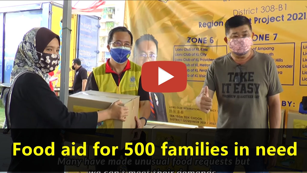 Lions Club of KL Pantai Hills: Food aid for 500 families in need