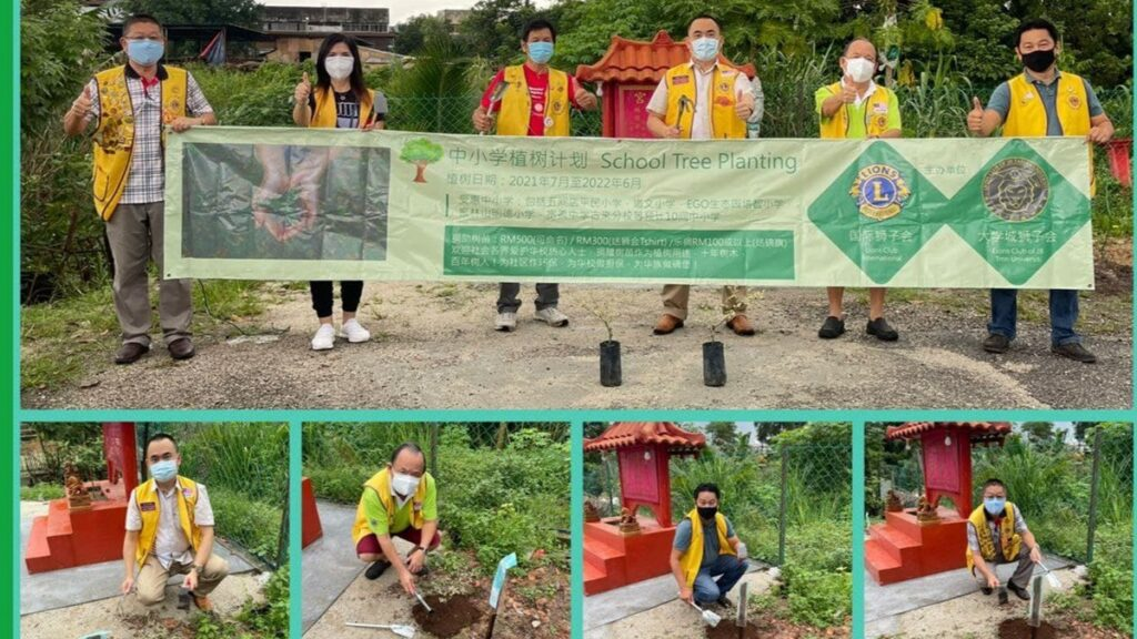 新山大学城狮子的10间小学植树计划+树苗
