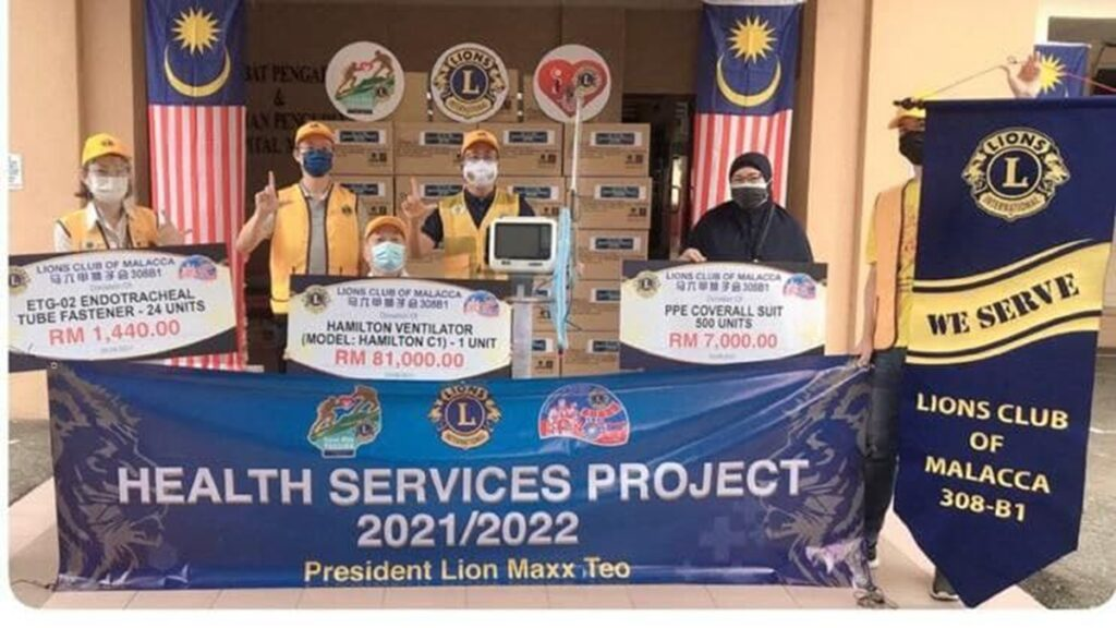 Lion Club Of Malacca , Health Services Project