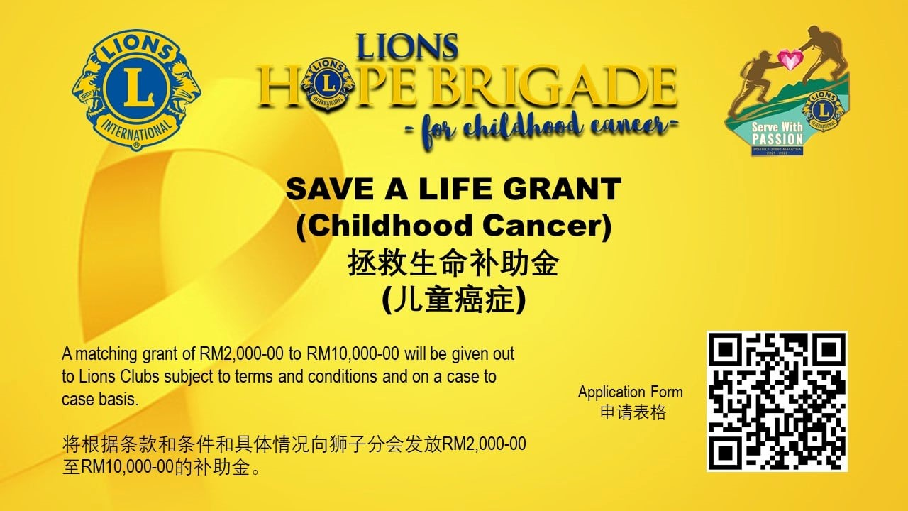 """How to apply Lions Hope Brigade """"Save A Life"""" grant?"""